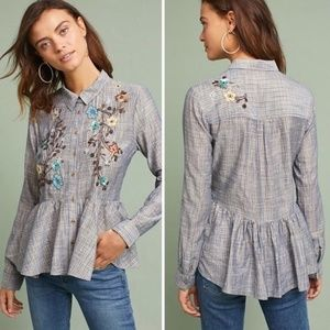 HD in Paris | Anthropologie Chambray Sequin Blouse